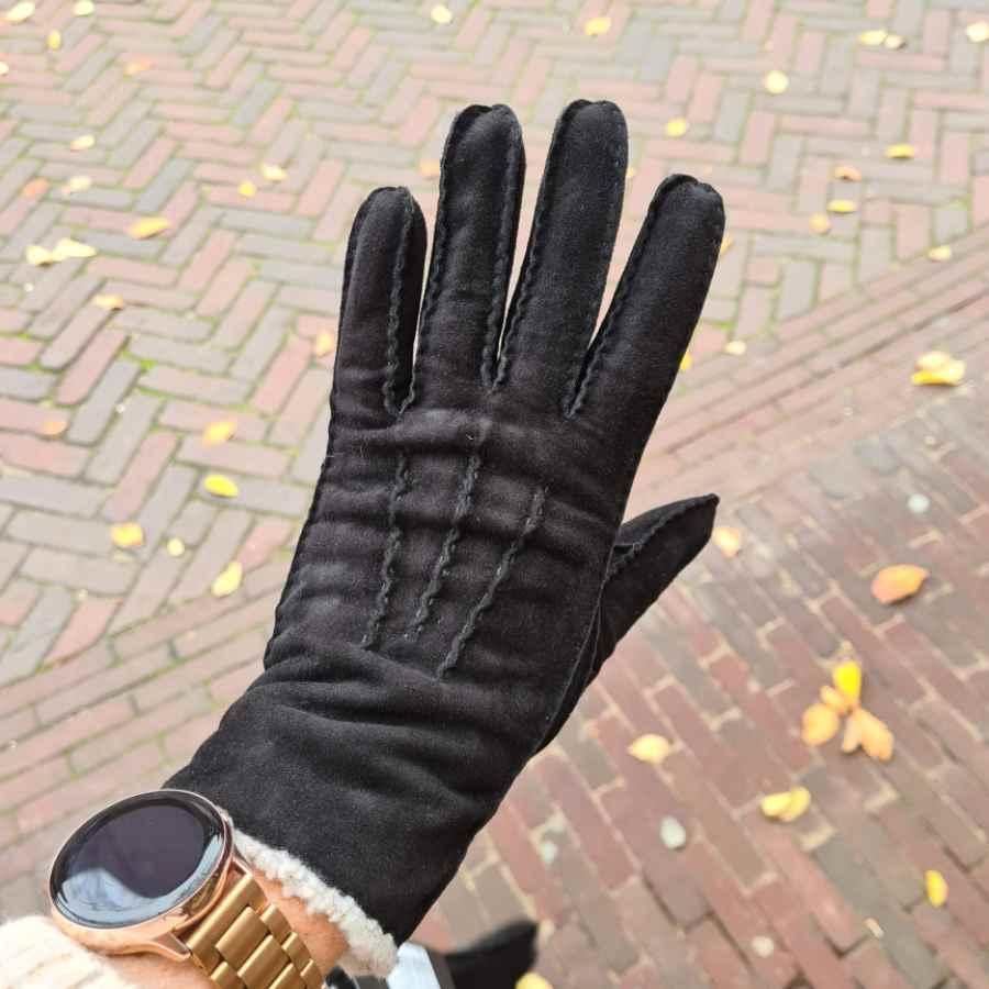 Lammy handschoen dames zonder wol in zwart