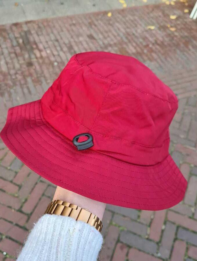 Regenhoed dames rood verstelbaar