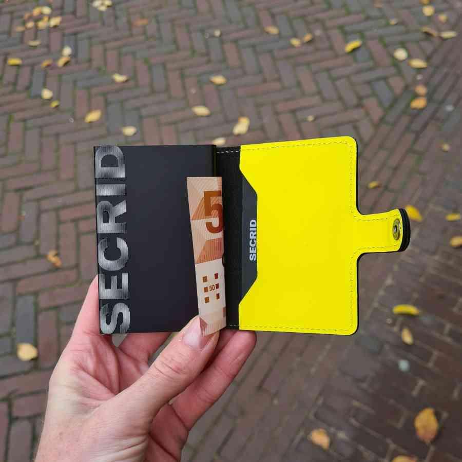 Secrid Miniwallet Matte MM Black Yellow