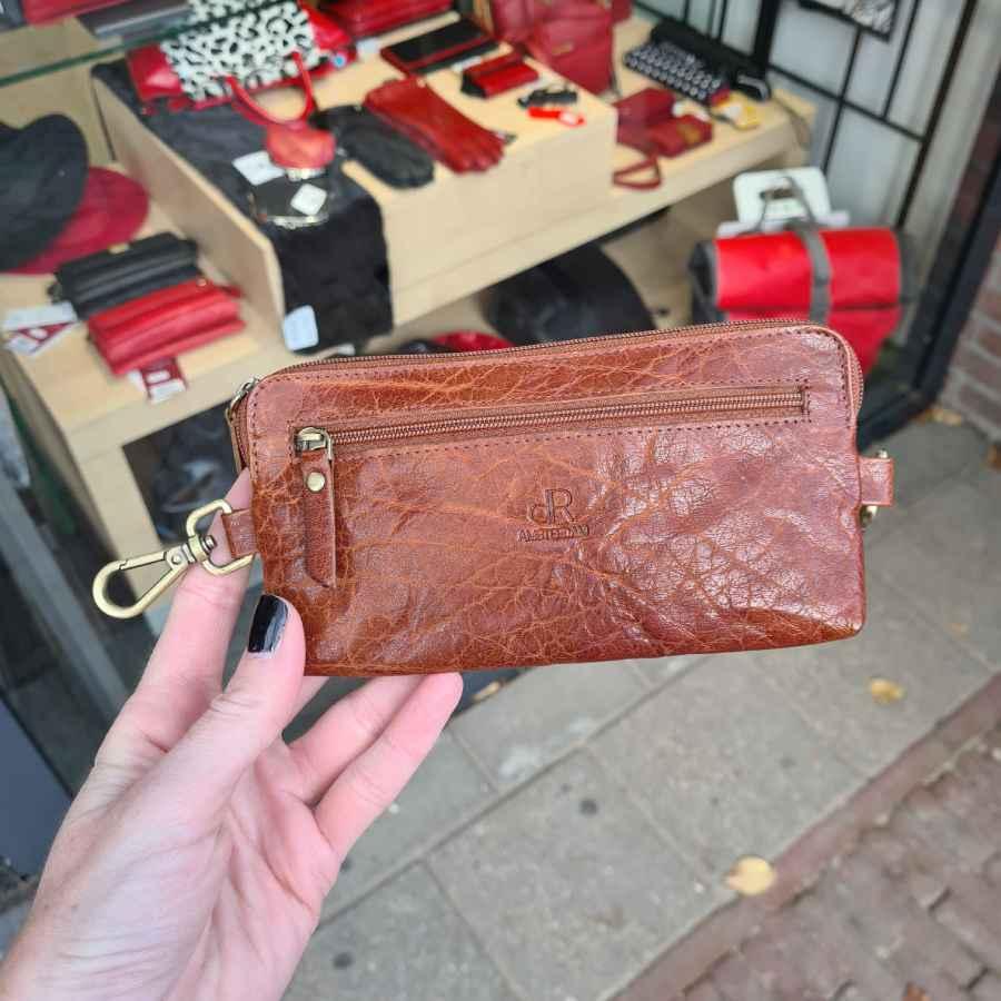 dR Amsterdam Loop Bag in cognac leer