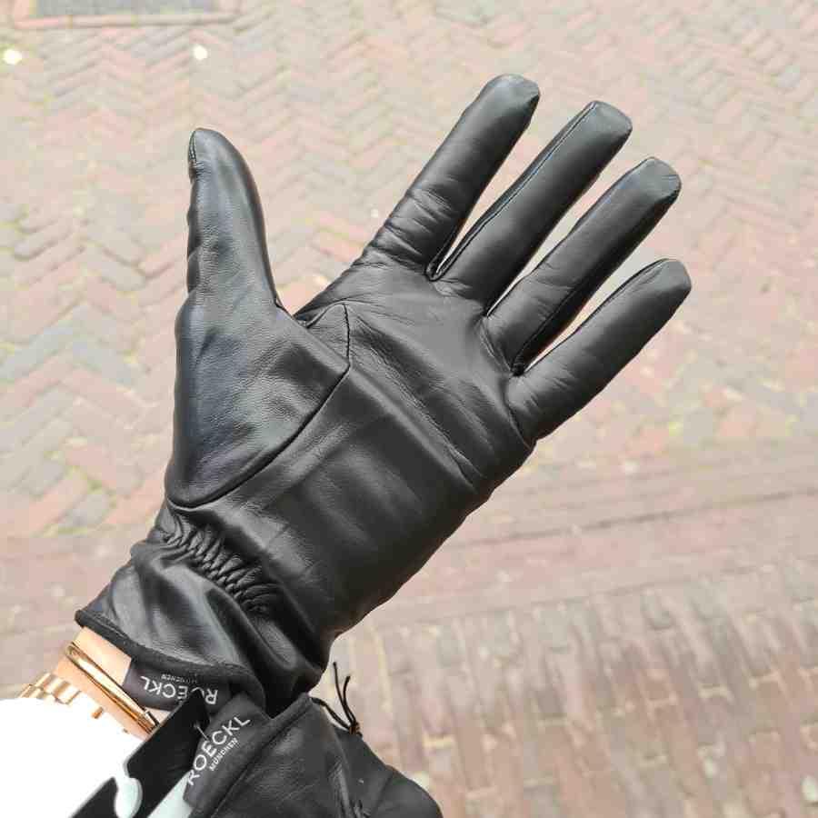 handschoenen dames zwart leer