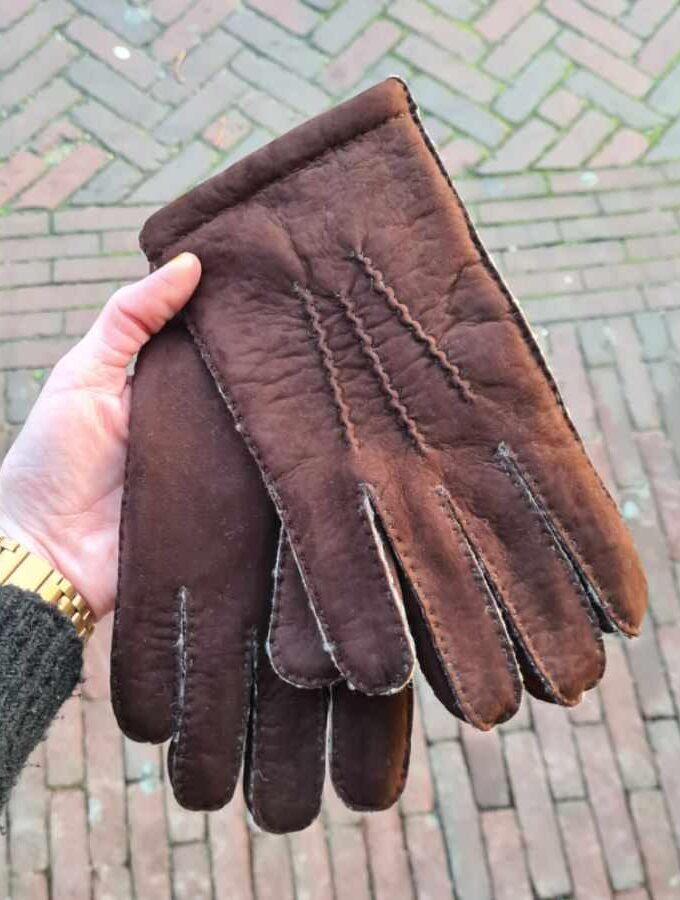 Lammy handschoenen Heren bruin