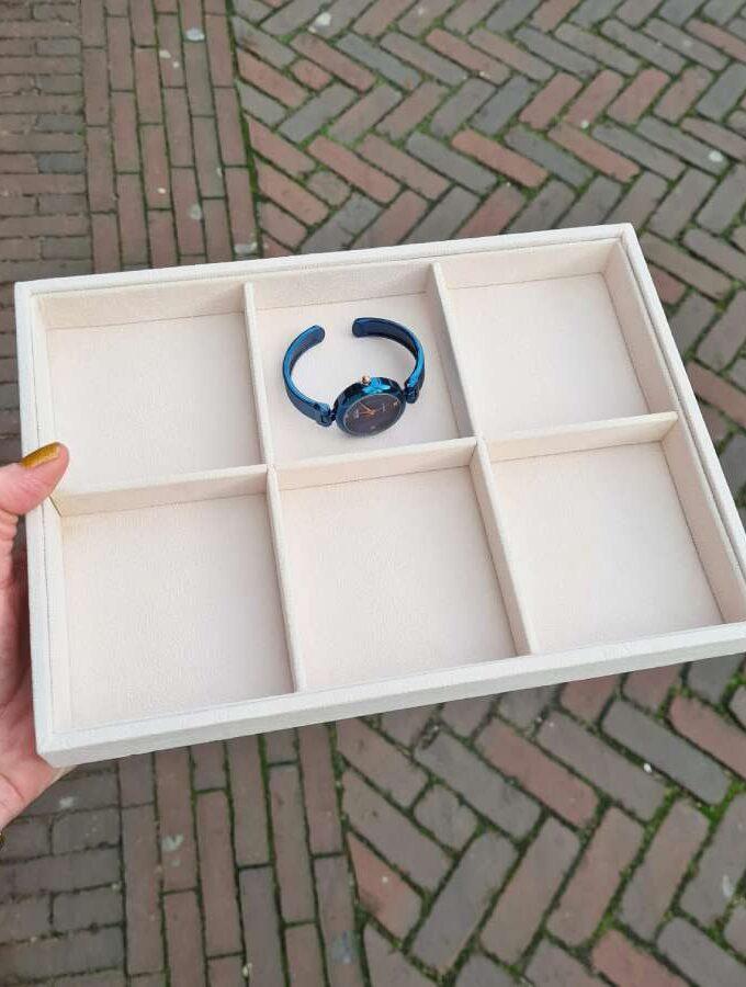 Sieradendoos armbanden en horloges 6-vaks
