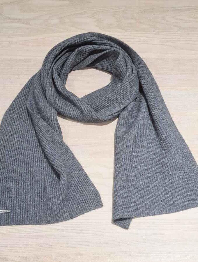 Sjaal merino wol grijs voor dames en heren