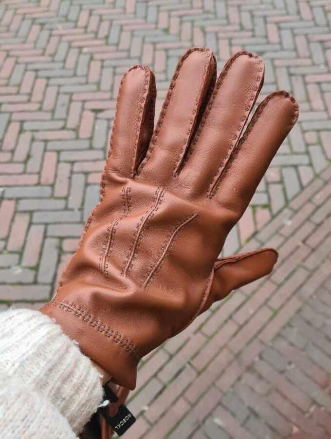 handschoen heren cognac