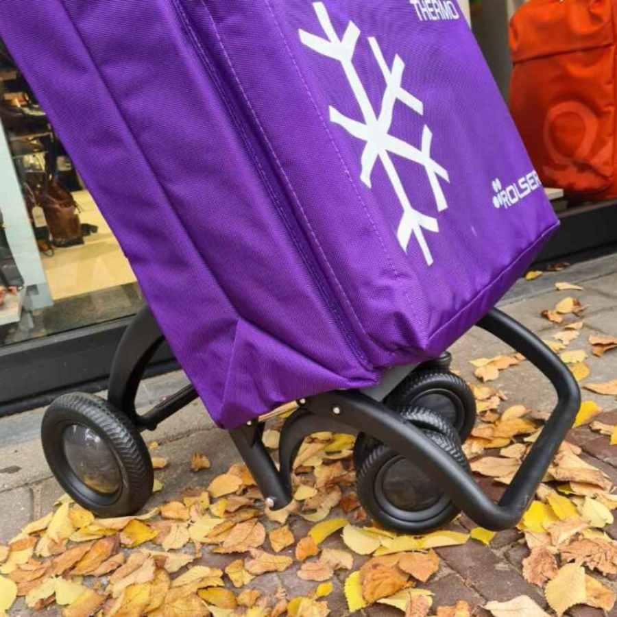 ROLSER boodschappenkar Termo Fresh in paars wielen