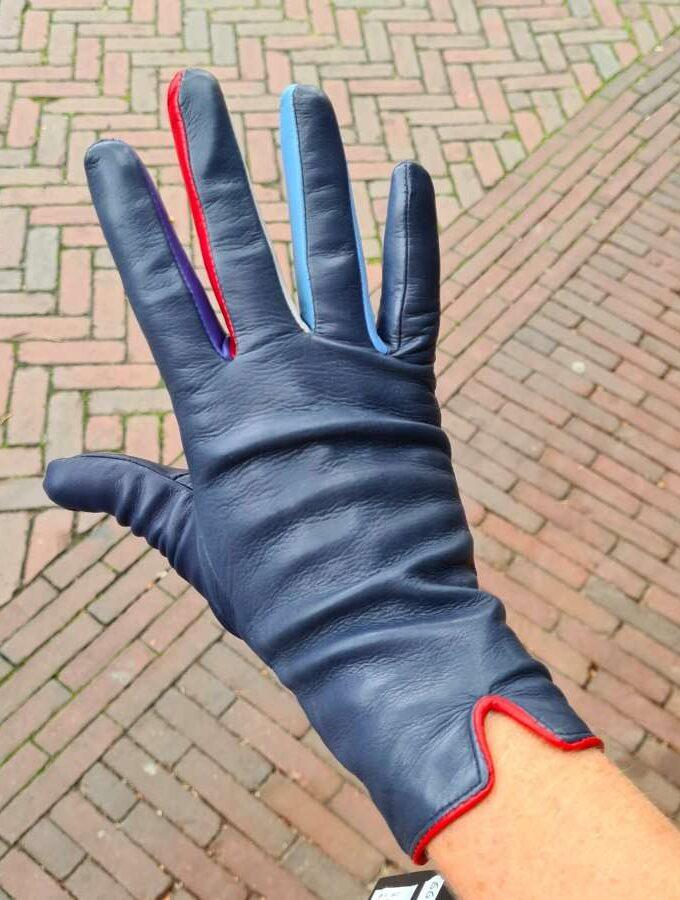 mywalit blauwe handschoen royal met rood