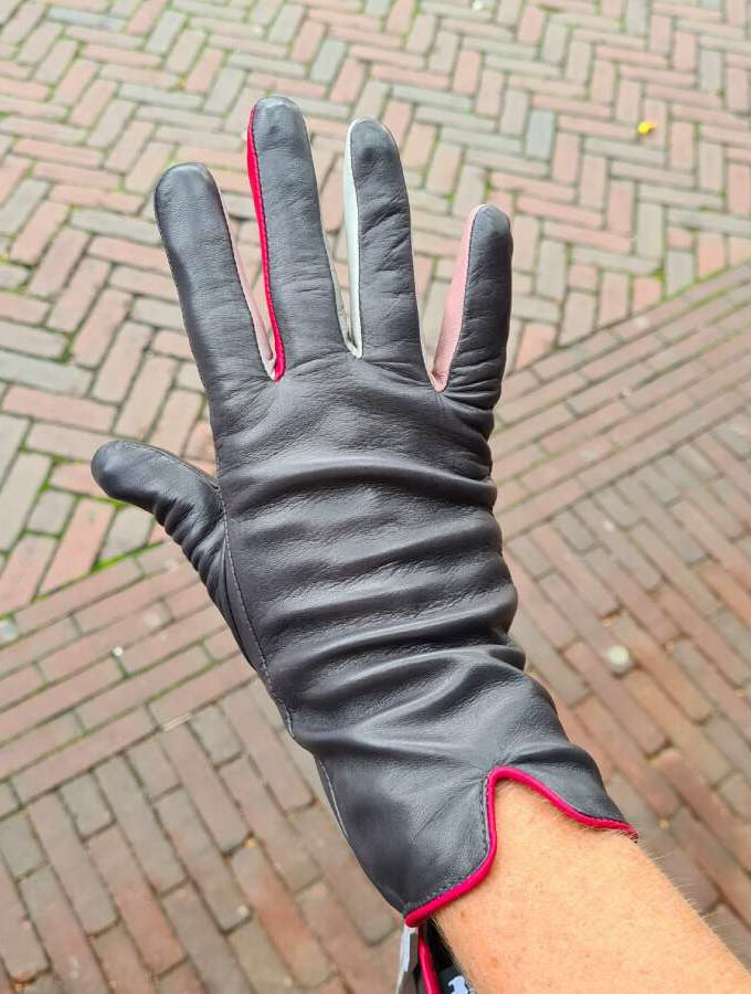 mywalit handschoen grijs gekleurde vingers