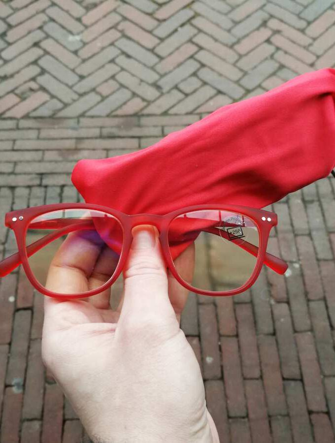 Beeldscherm leesbril rood filtert blauw licht