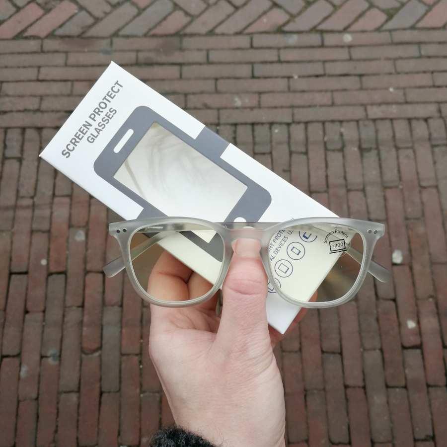 Beeldscherm leesbril transparant montuur