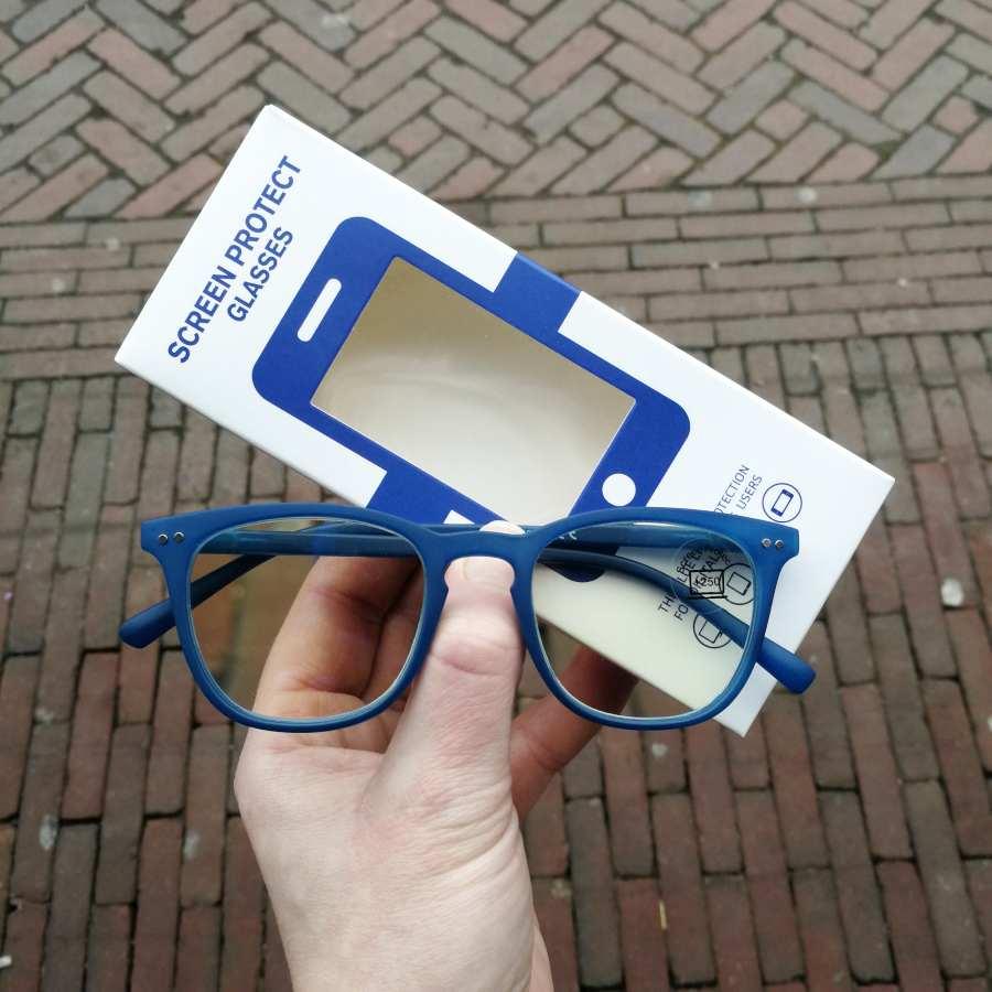 Computerleesbril blauw montuur Screen Protect