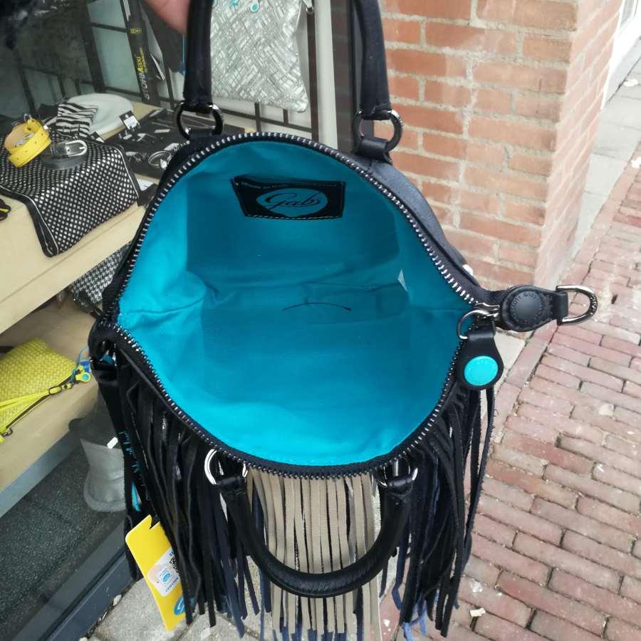 Gabs G3 mini zwart blauw beige franjes