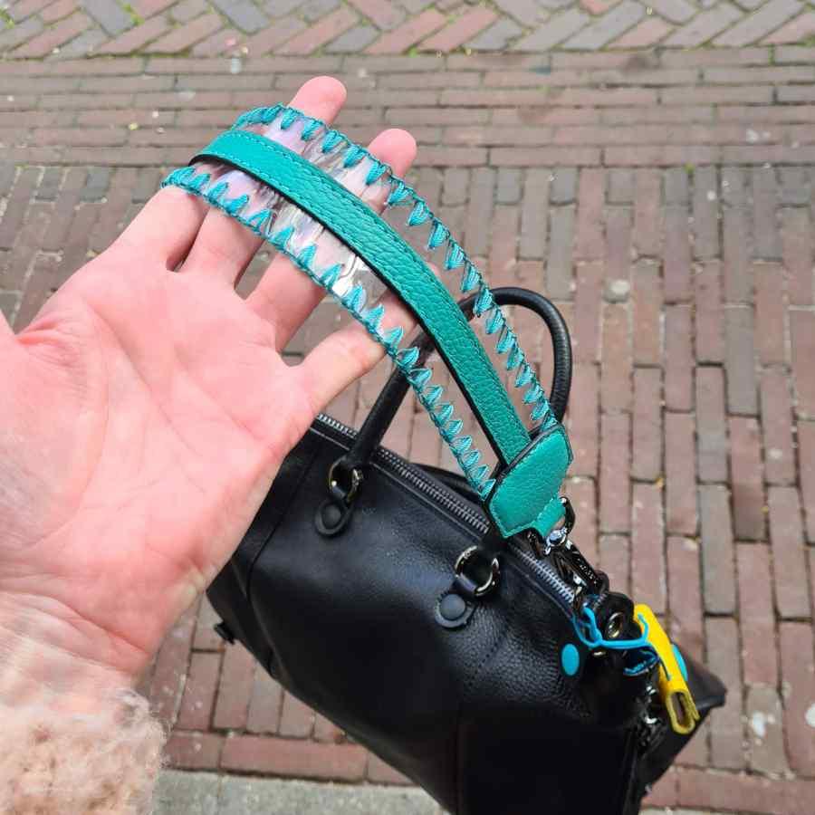 Gabs schouderband Ricamo turquoise