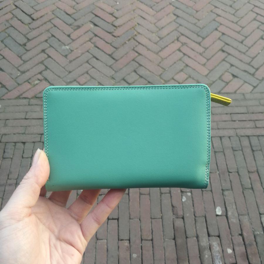 MyWalit portemonee groen en blauw tinten