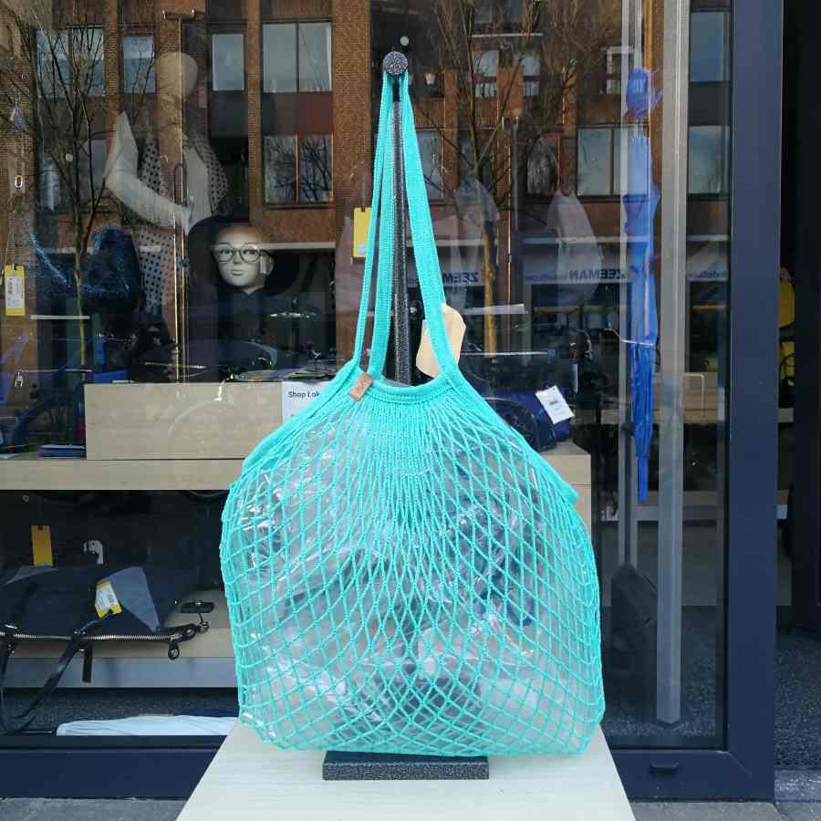 boodschappennetje turquoise