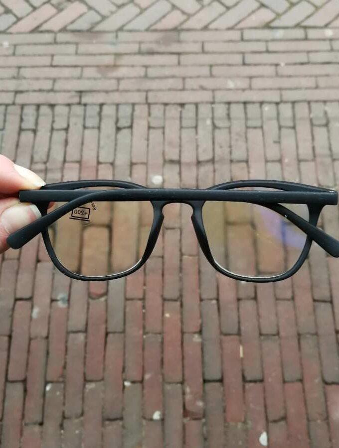 Computerleesbril zwart montuur beschermt je ogen