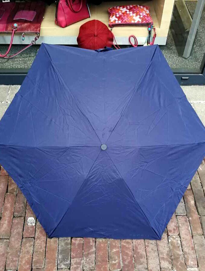 Esprit paraplu Petito donkerblauw