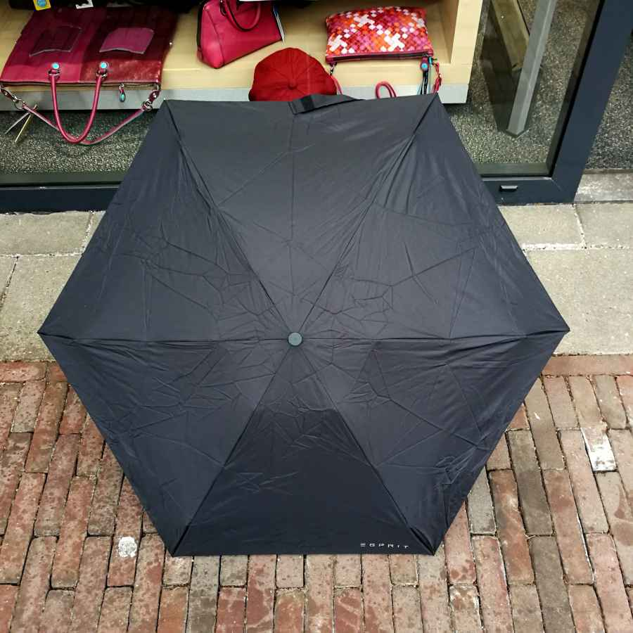 Esprit Petito paraplu zwart