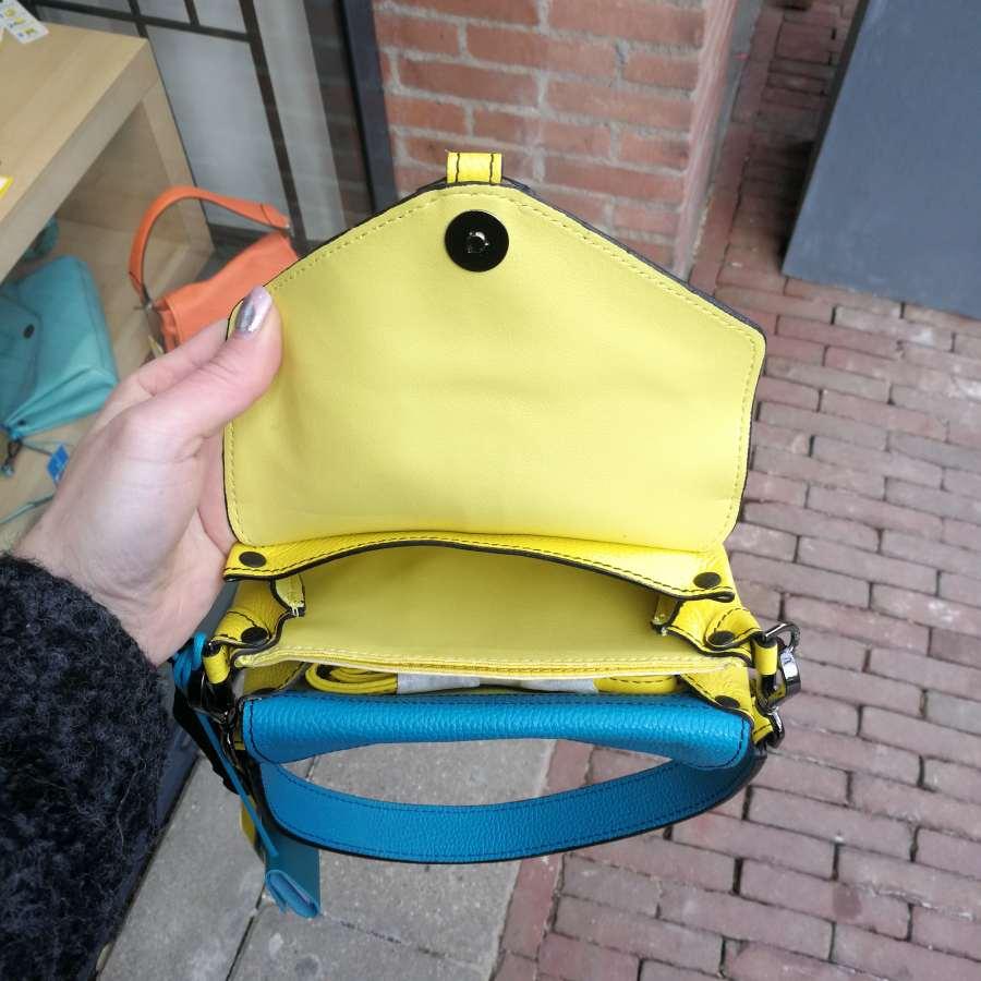 Gabs Claudia S Metal geel en turquoise