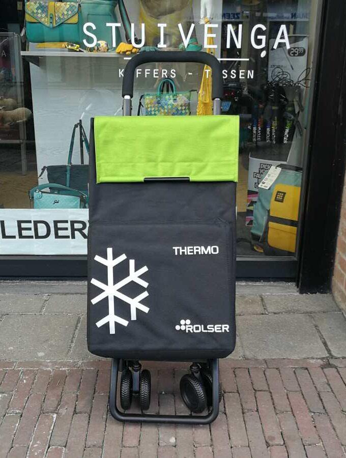 Rolser Termo Fresh boodschappenkar groen en zwart