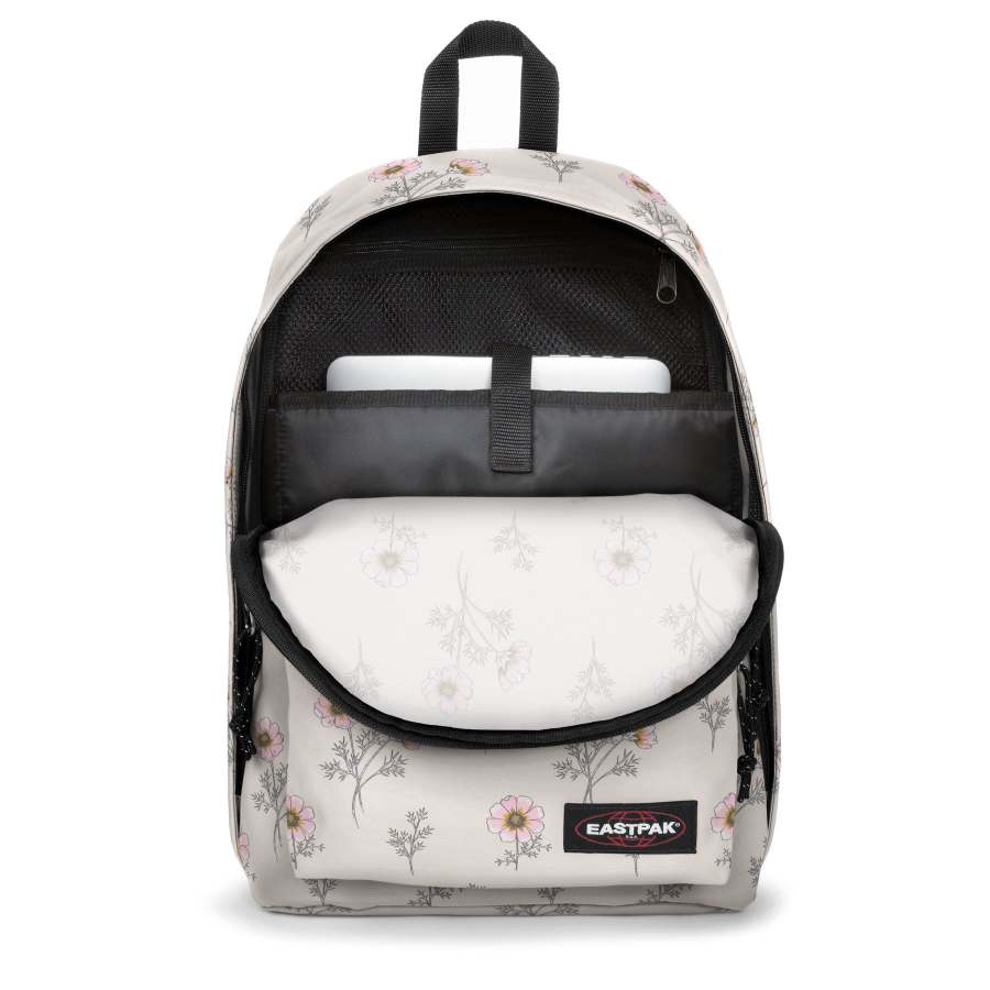 Eastpak Out Of Office wit bloemen Wild White