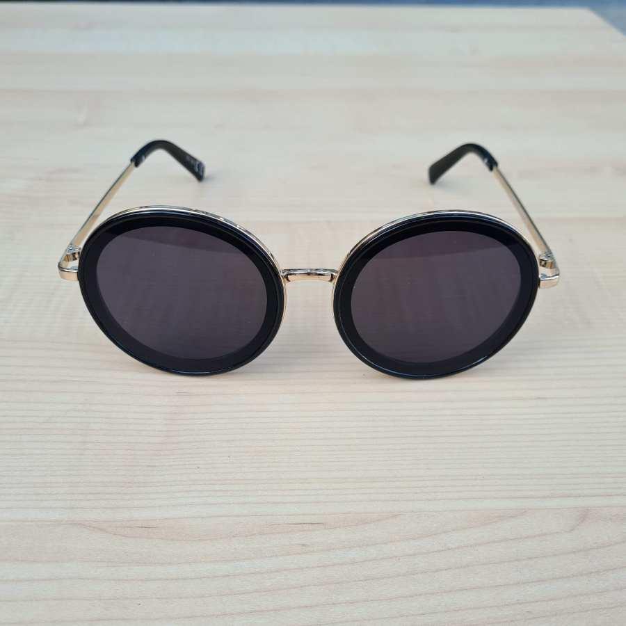 Zwarte zonnebril ronde glazen