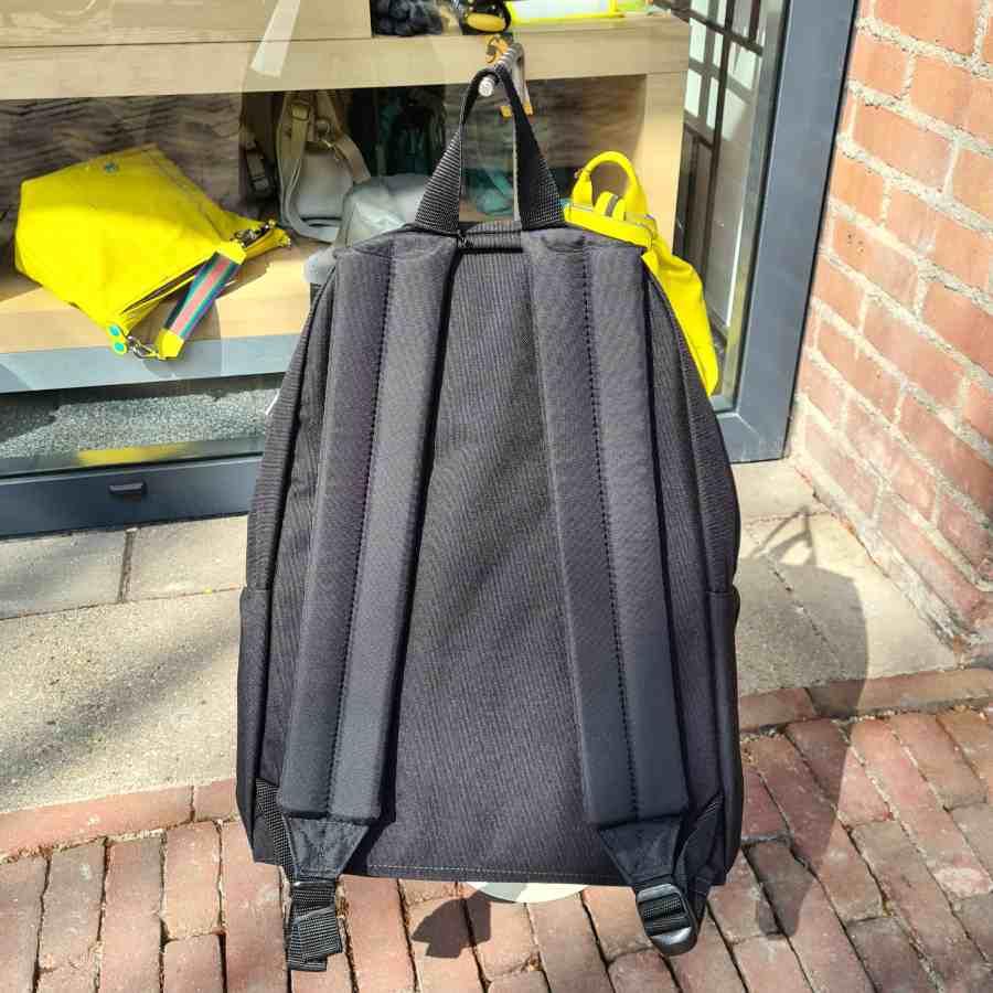 eastpak grey weave achterkant