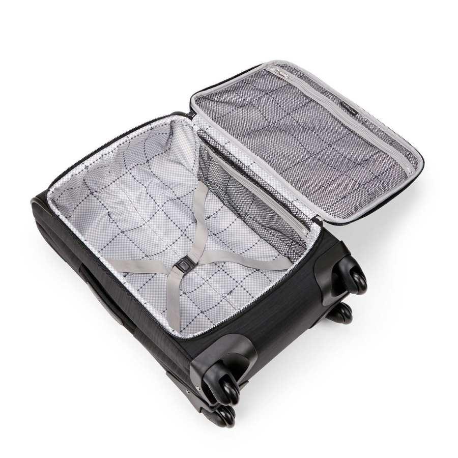 kipling koffer zwart dazz handbagage binnenkant