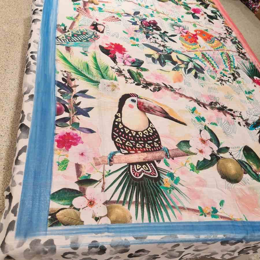 sjaal modal met zijde vogels
