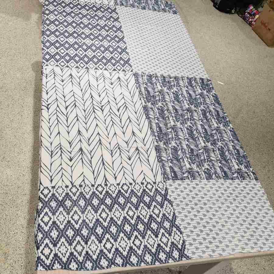 sjaal katoen blauwe print