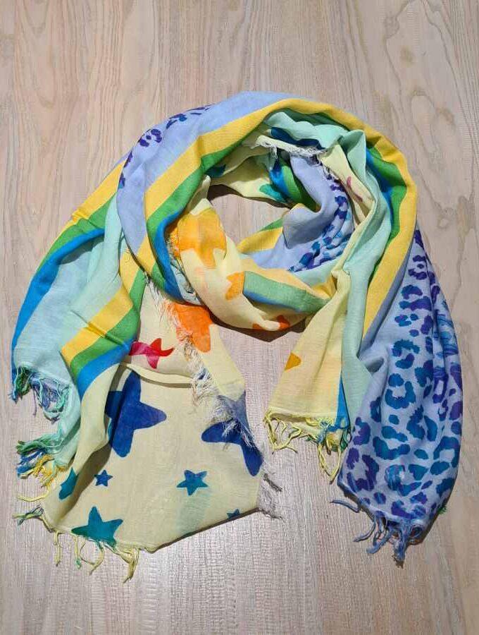sjaal katoen sterren en dierenprint