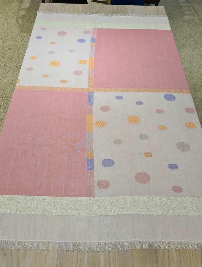 sjaal roze vlakken vierkant