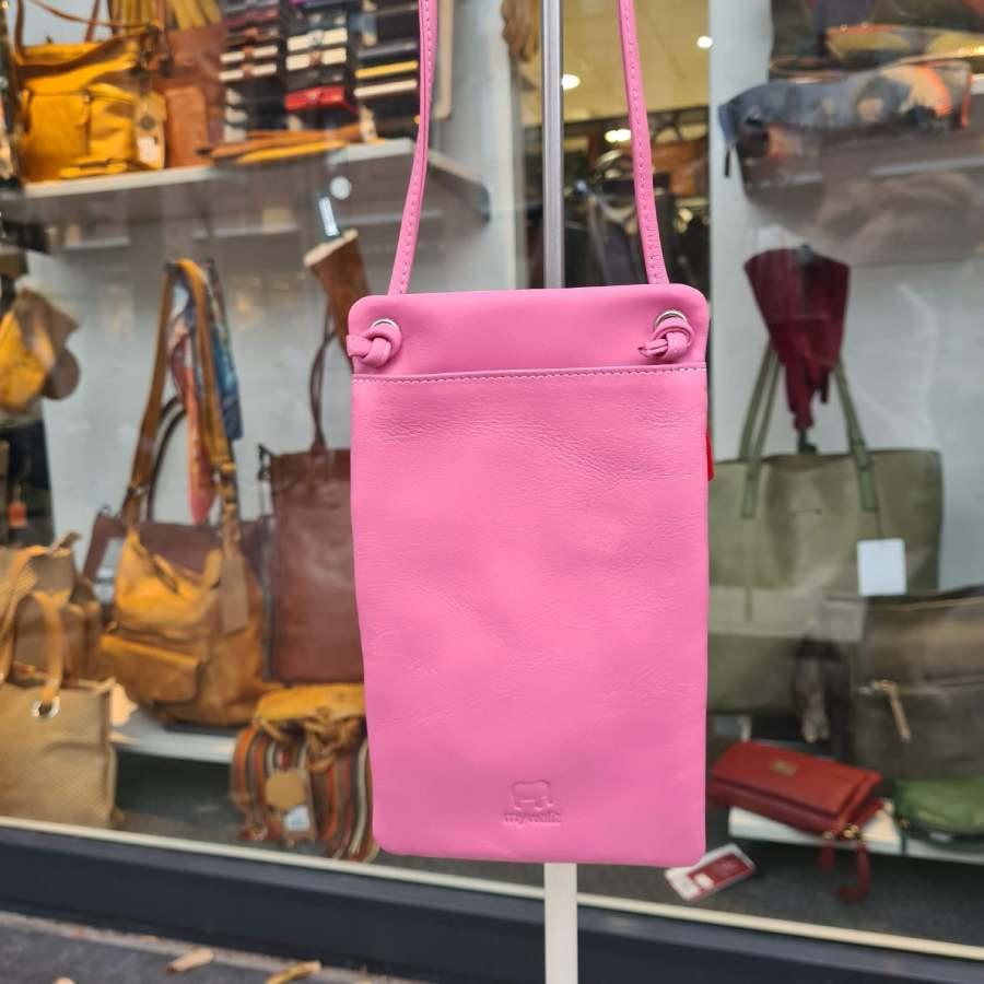 telefoon tasje roze plat achterkant