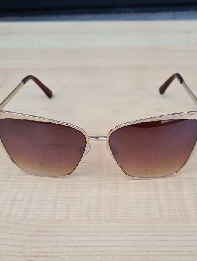 grote zonnebril bruine glazen