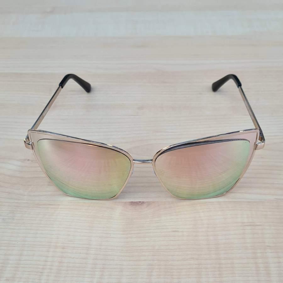 zonnebril rose voorkant groene glazen