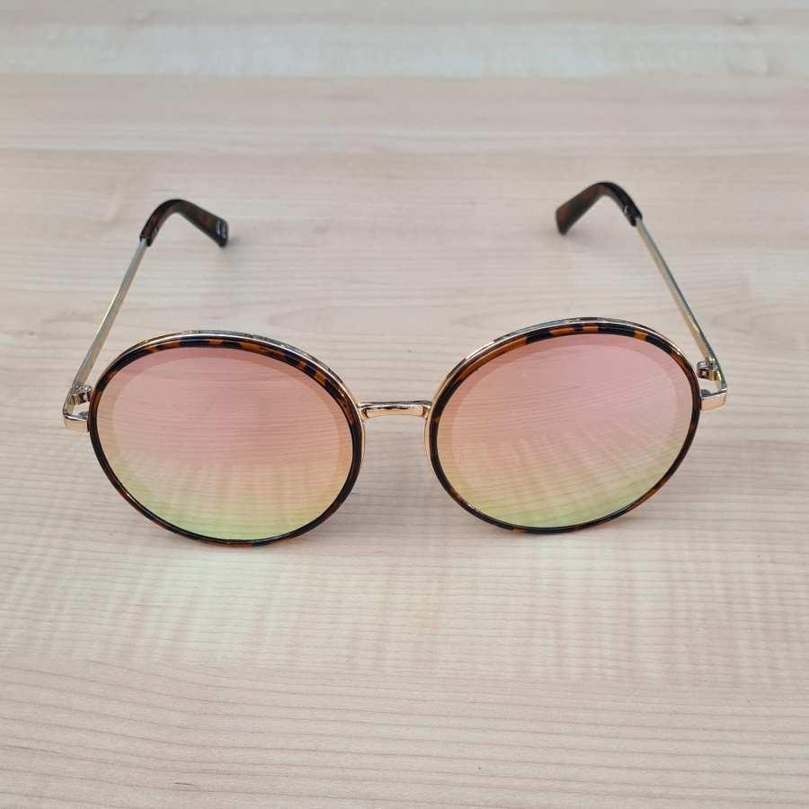 Zonnebril roze ronde glazen