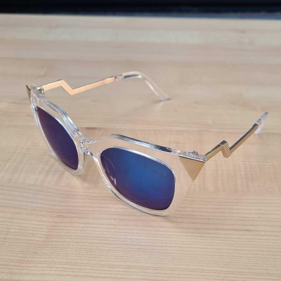 zonnebril blauw transparant