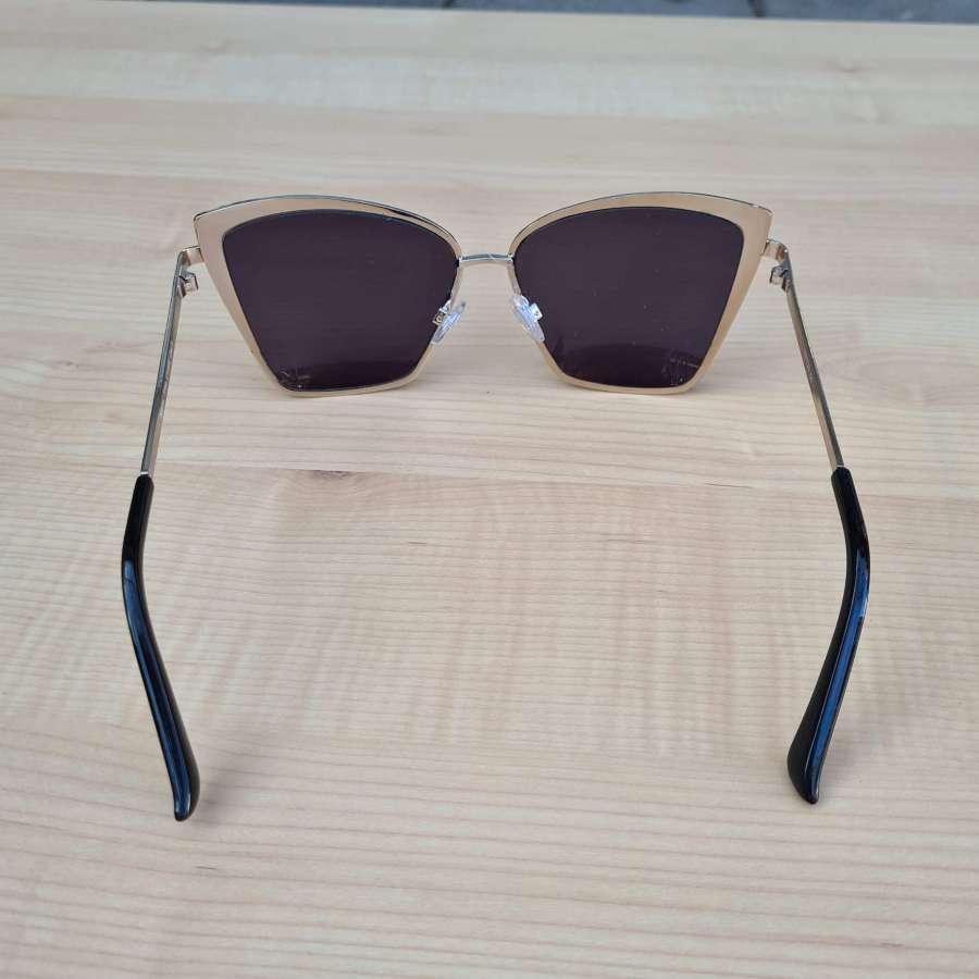 zonnebril zwart achterkant