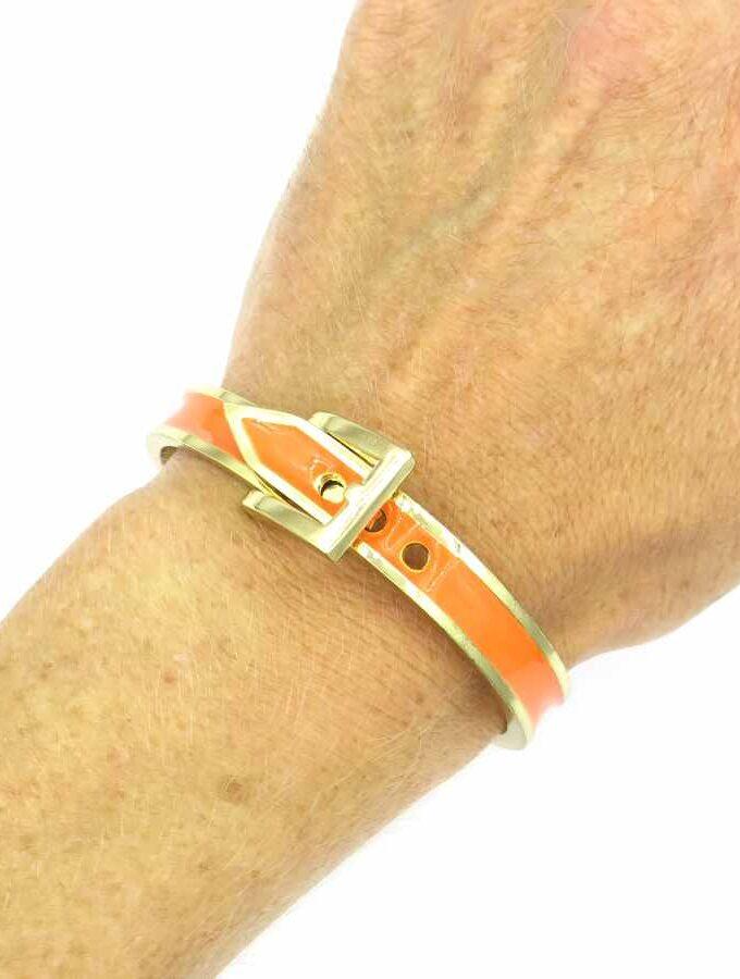 Gesp armband oranje