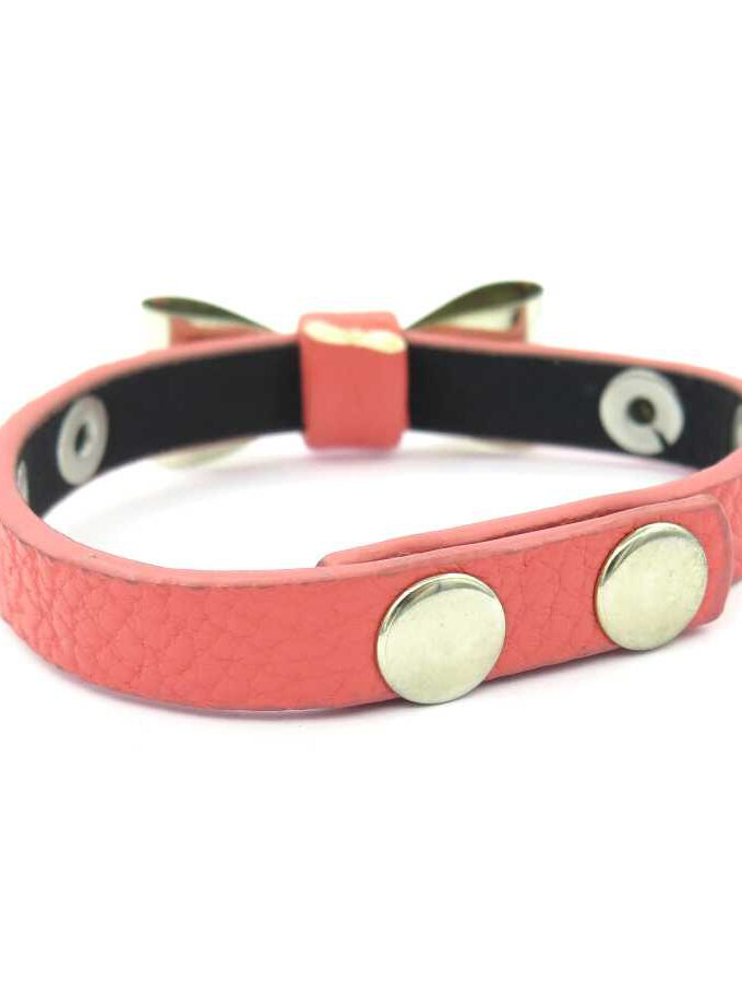 Strik armband roze