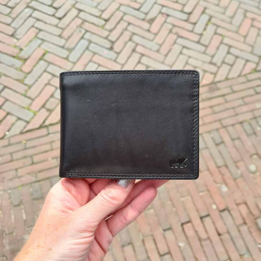 Beardesign grote portemonnee 15 CC zwart