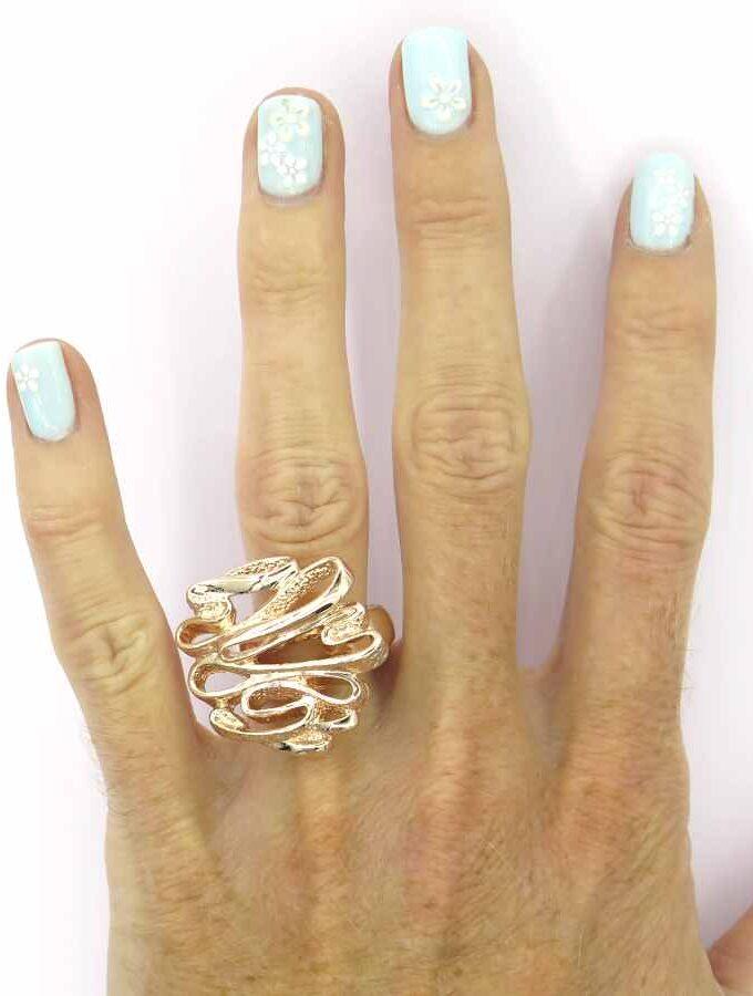 Ring elastiek rosé krullen