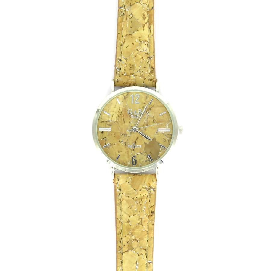 Horloge kurk zilver klok