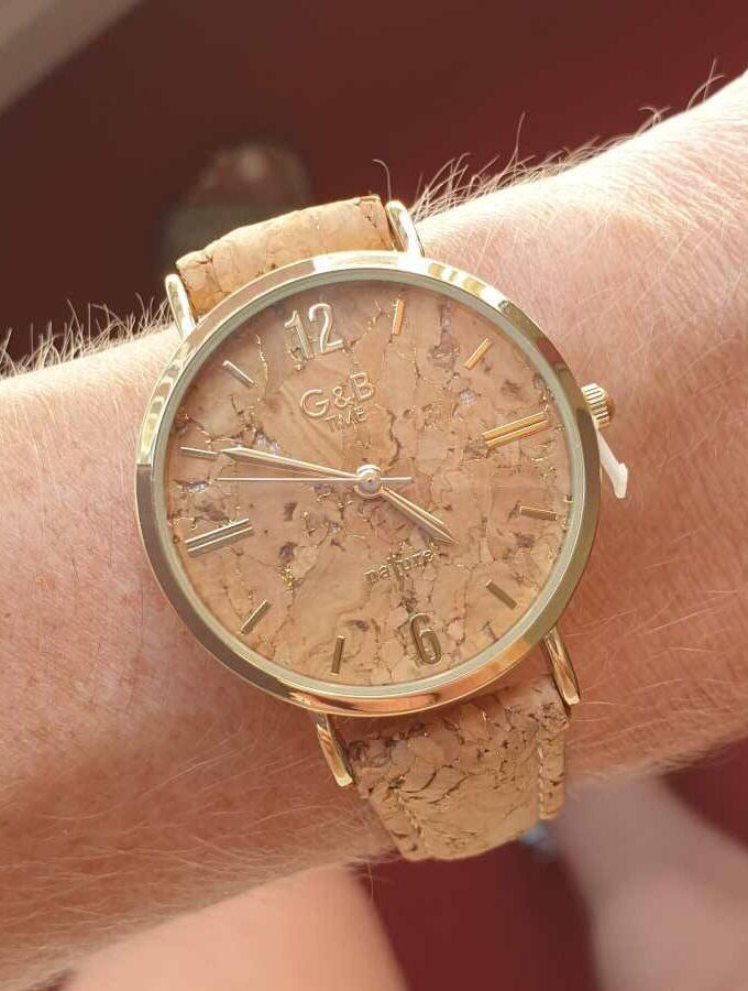 Horloge kurk gouden klok
