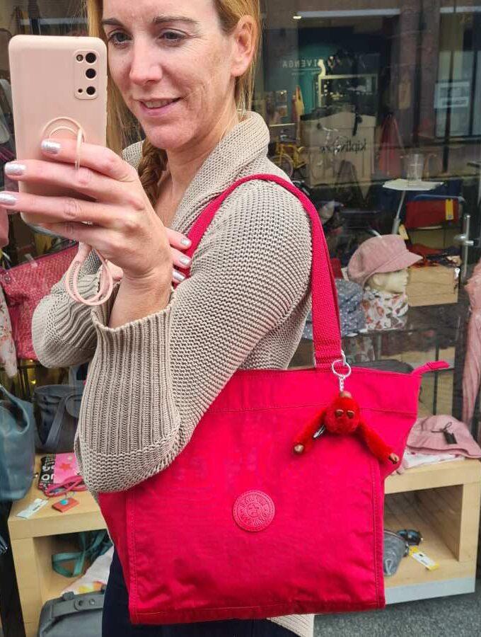 Kipling New Shopper S Radient Red rood