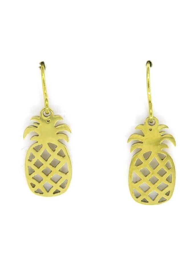 Oorbellen hanger ananas