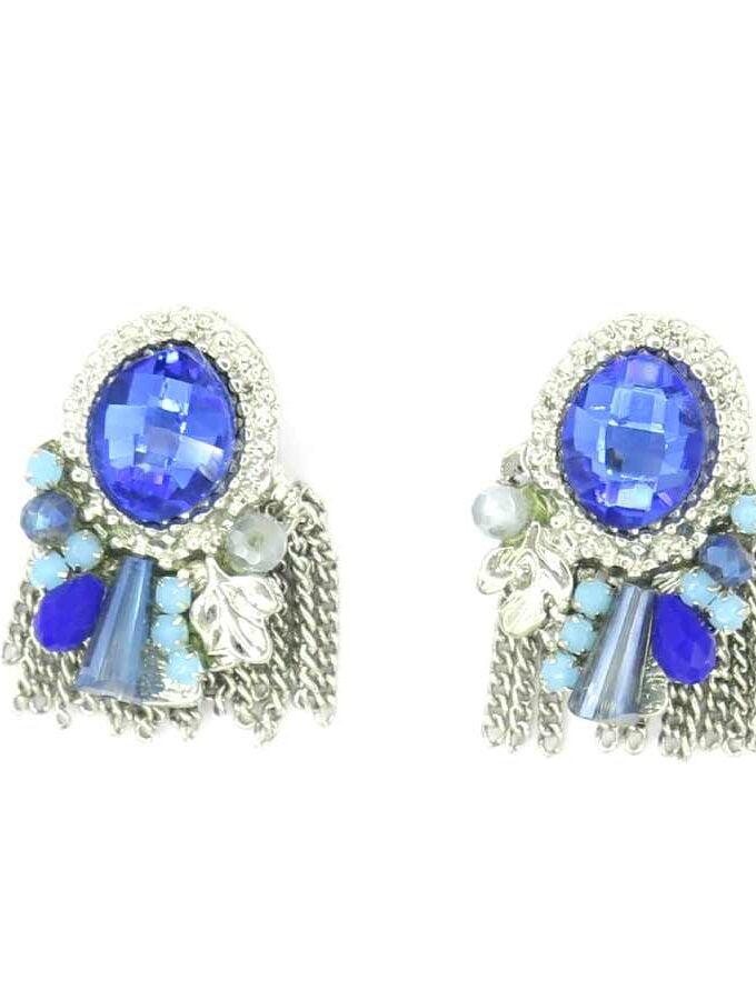 Oorbellen blauwe stenen