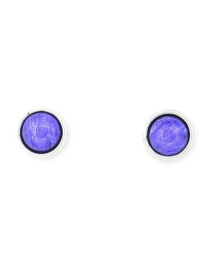 Oorbellen knopjes paars