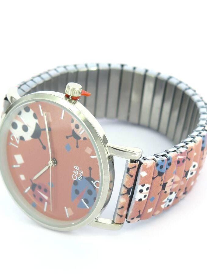Horloge insecten roze