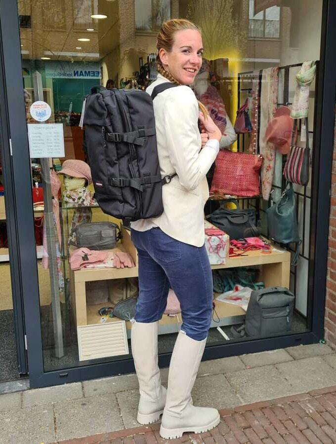 Rugzaktrolley Eastpak Strapverz S handbagage